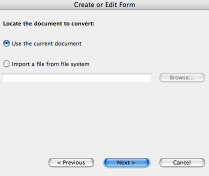 Using Adobe Acrobat (ver 9) to make a fillable PDF
