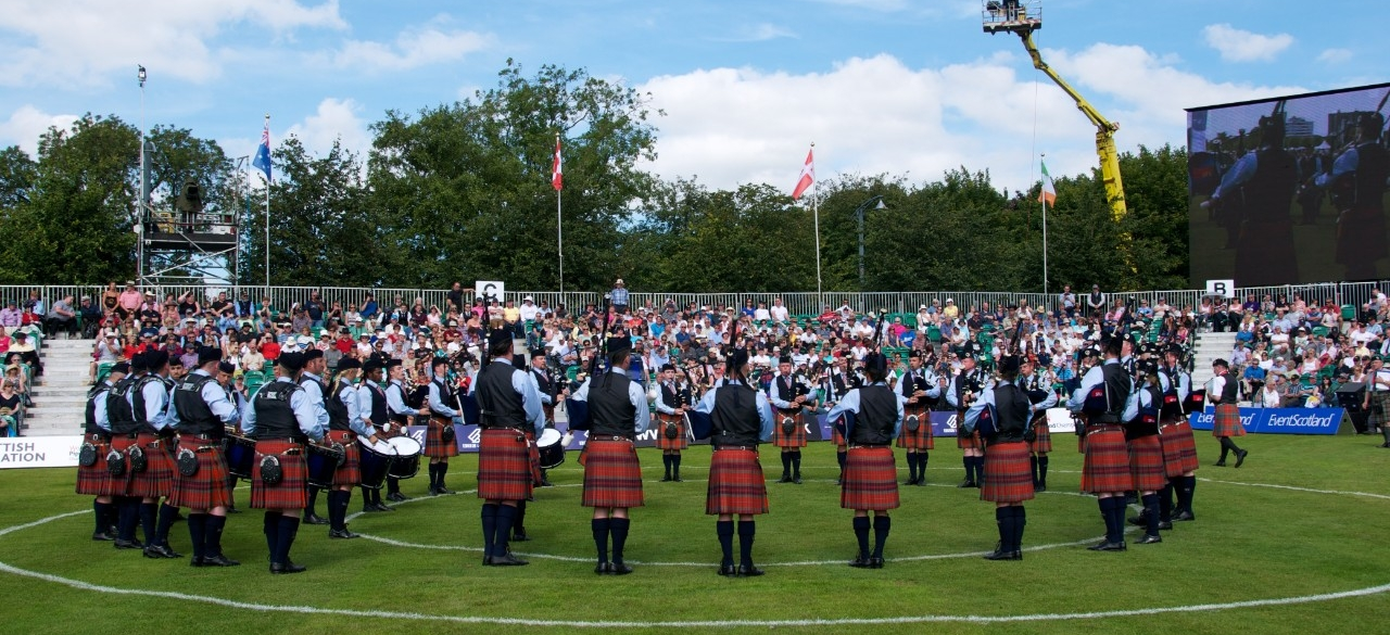 Simon Fraser University Pipe Band in Glasgow at the Worlds, 2012