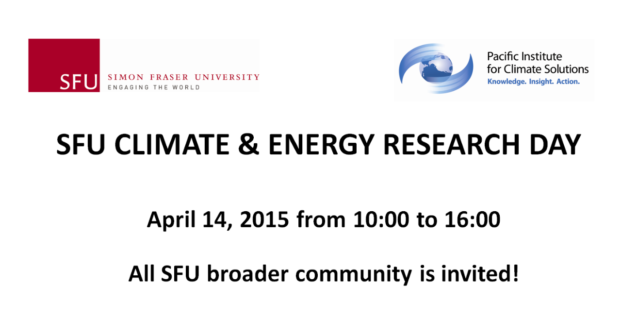 climate and energy research day   climate change research