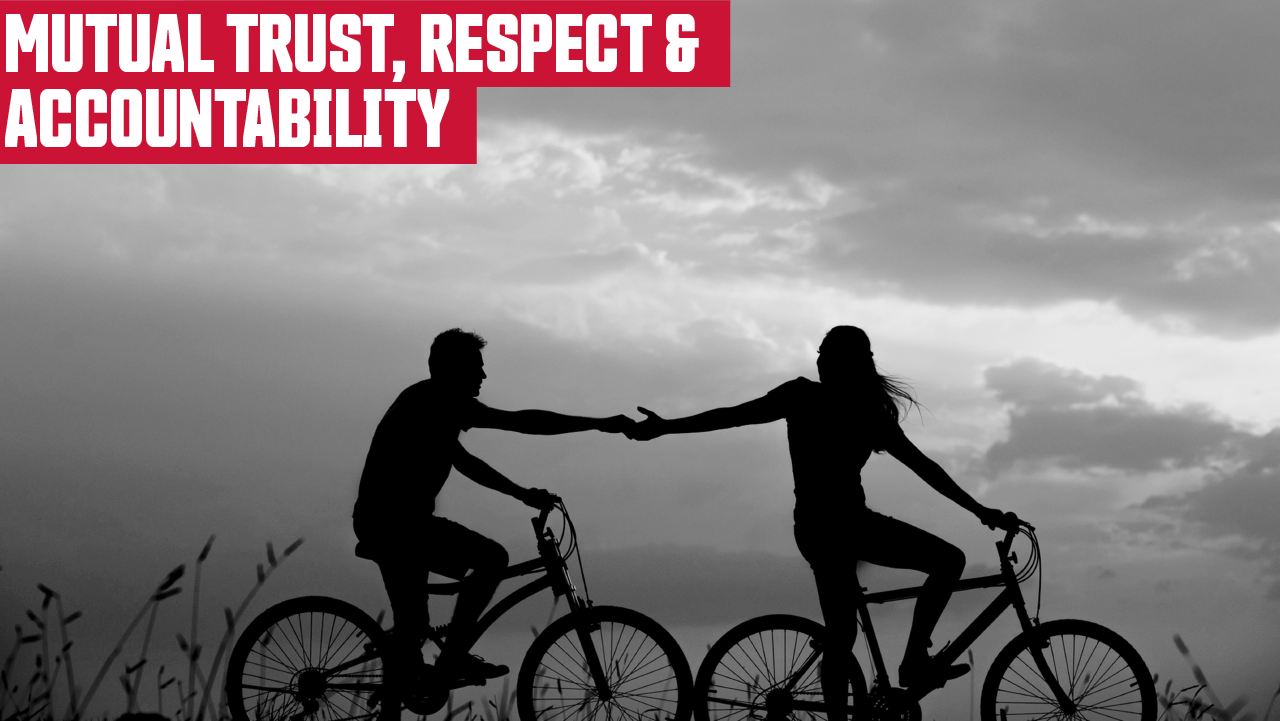 Mutual trust, respect, and accountability