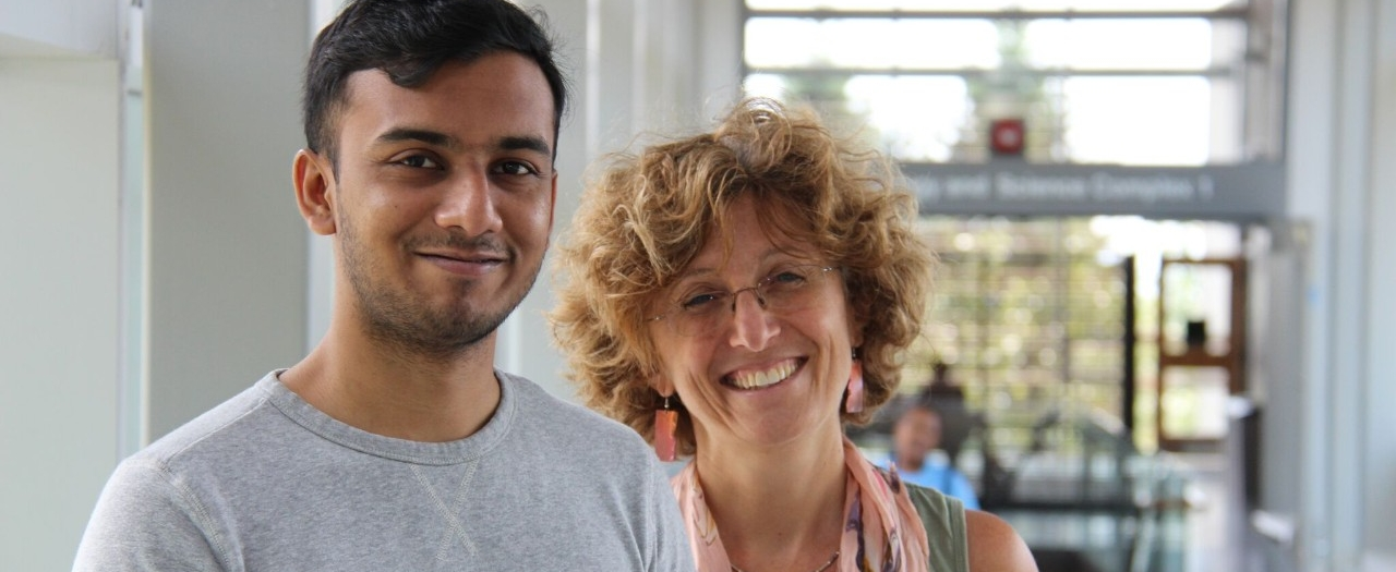 Jonathan Bhaskar and Dr. Diana Cukierman
