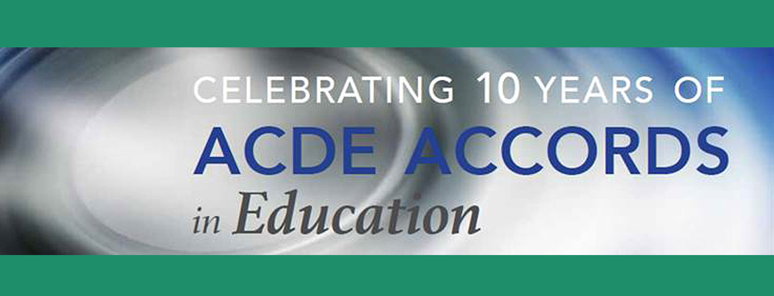 Celebrating 10 years of ACDE Accords in Education