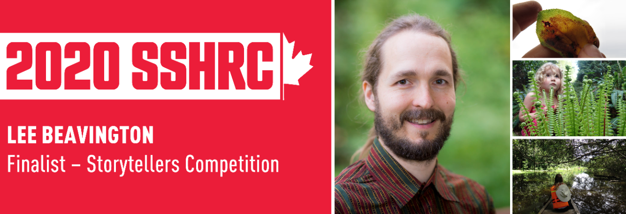 Doctoral student Lee Beavington announced as a finalist for SSHRC Storytellers competition