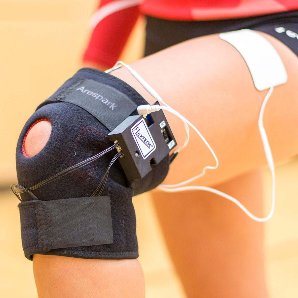 A knee brace with smart electronic attachments