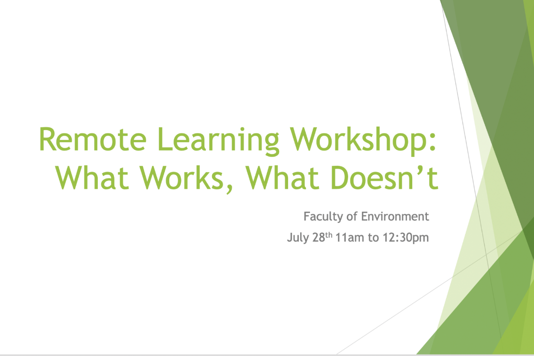 Remote Learning Workshop