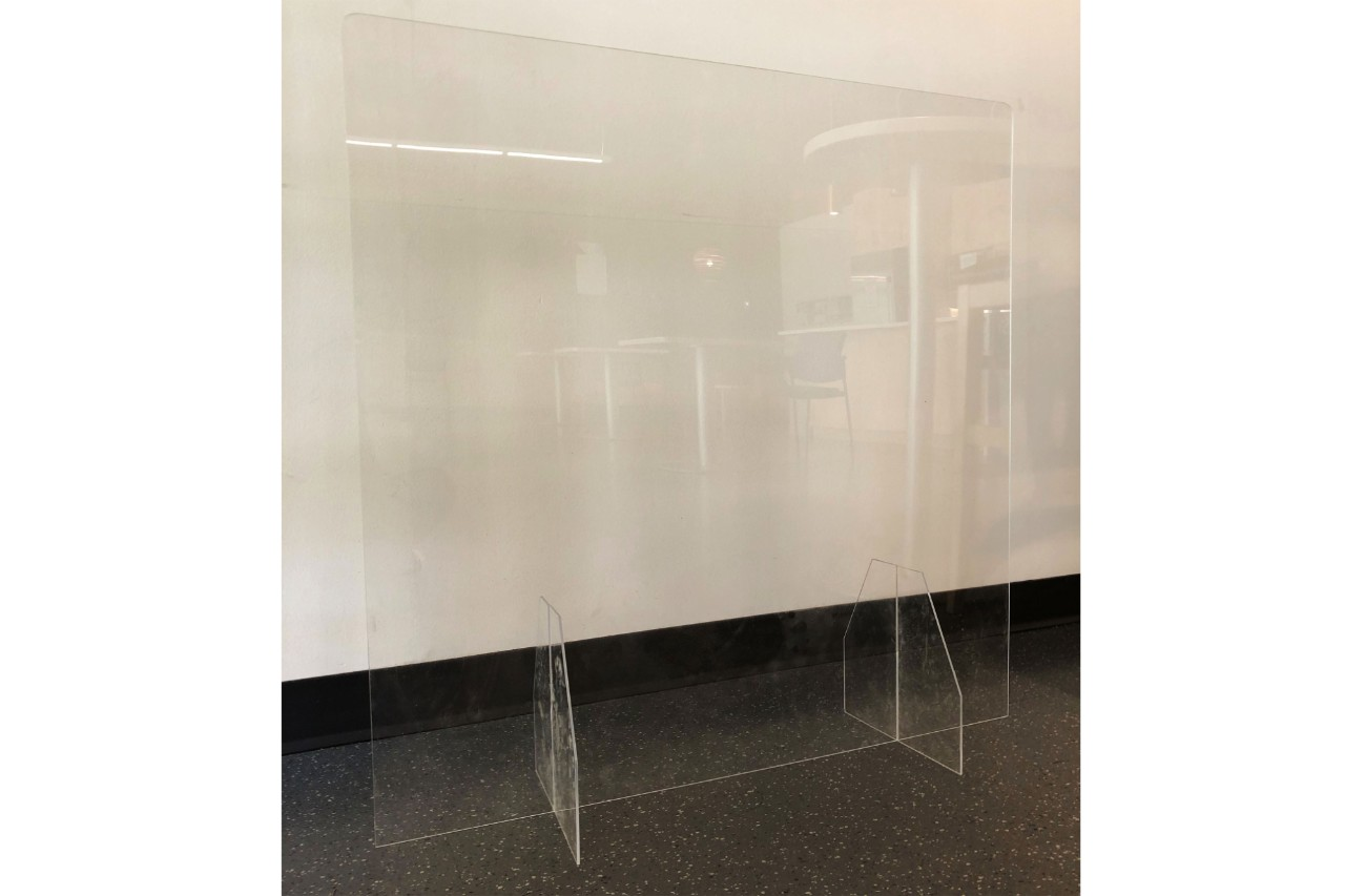 "42""W x 36""H Deskstop Barrier w/o Transaction Cutout"