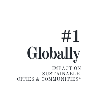 SFU#1 gobally for impact on sustainable cities & communities