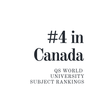 SFU Geography #4 in Canada QS world univ Subject rankings
