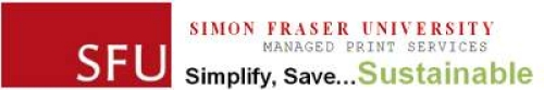 SFU Managed Print Services