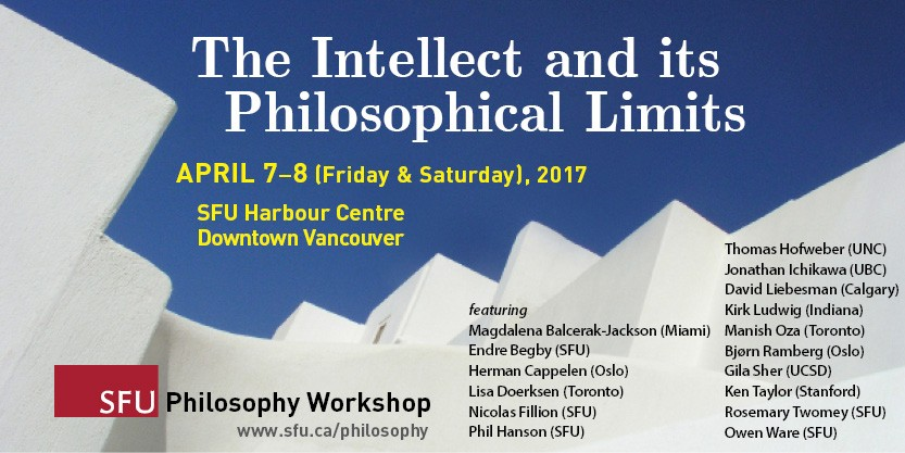 Workshop: The Intellect and its Philosophical Limits