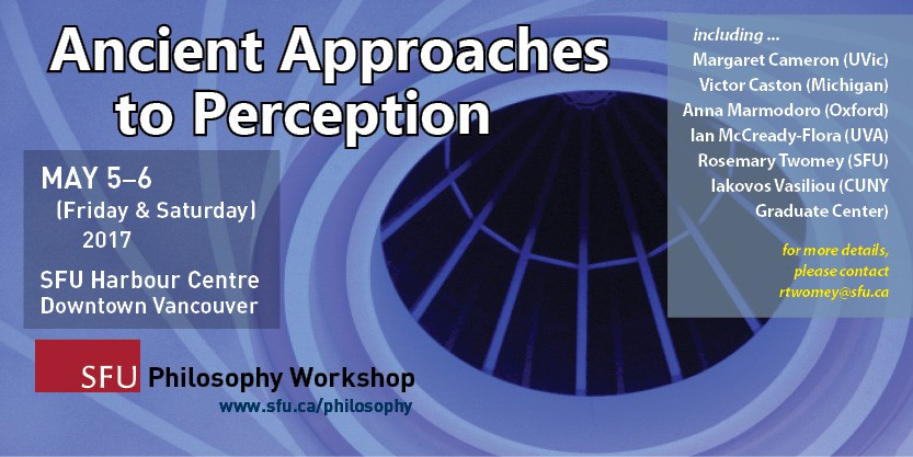 Workshop: Ancient Approaches to Perception