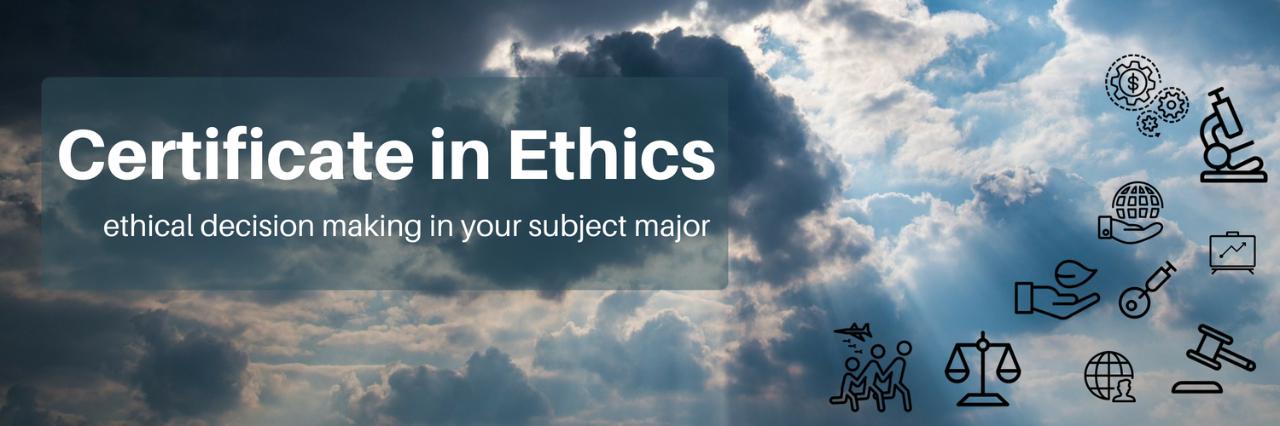 Ethics Certificate Department Of Philosophy Simon Fraser University