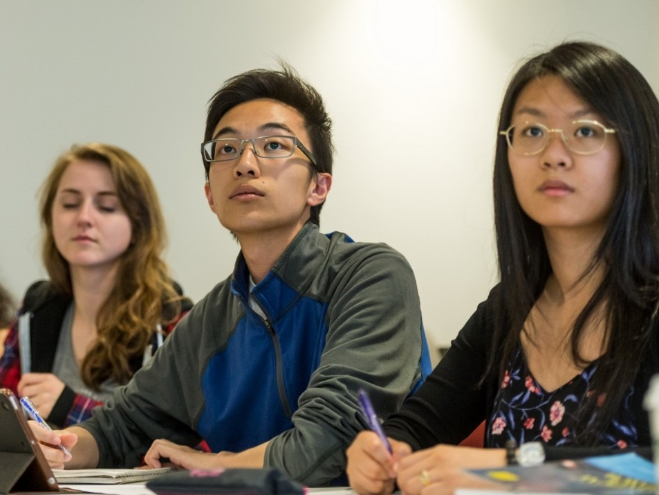 SFU students paying attention in classroom