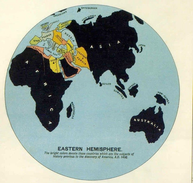 Smallworldhistory the geologist edward hulls synchronological chart of universal history 1890 features a world map on which bright colors denote those countries which gumiabroncs Image collections