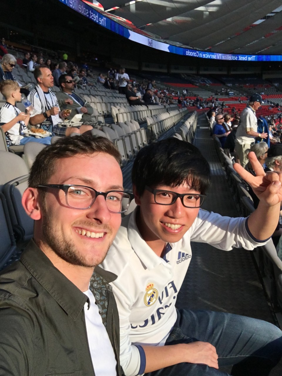 Footystats team at a Whitecaps game
