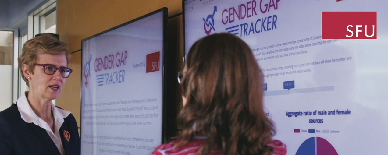 SFU partners with Informed Opinions to create Gender Gap Tracker and measure gender equity in news sources