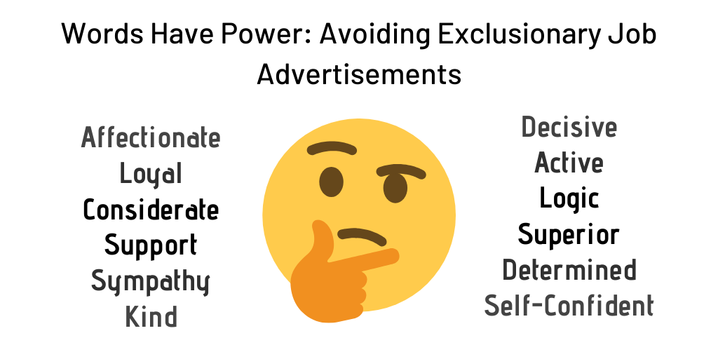 Words Have Power: Avoiding Exclusionary Job Advertisements