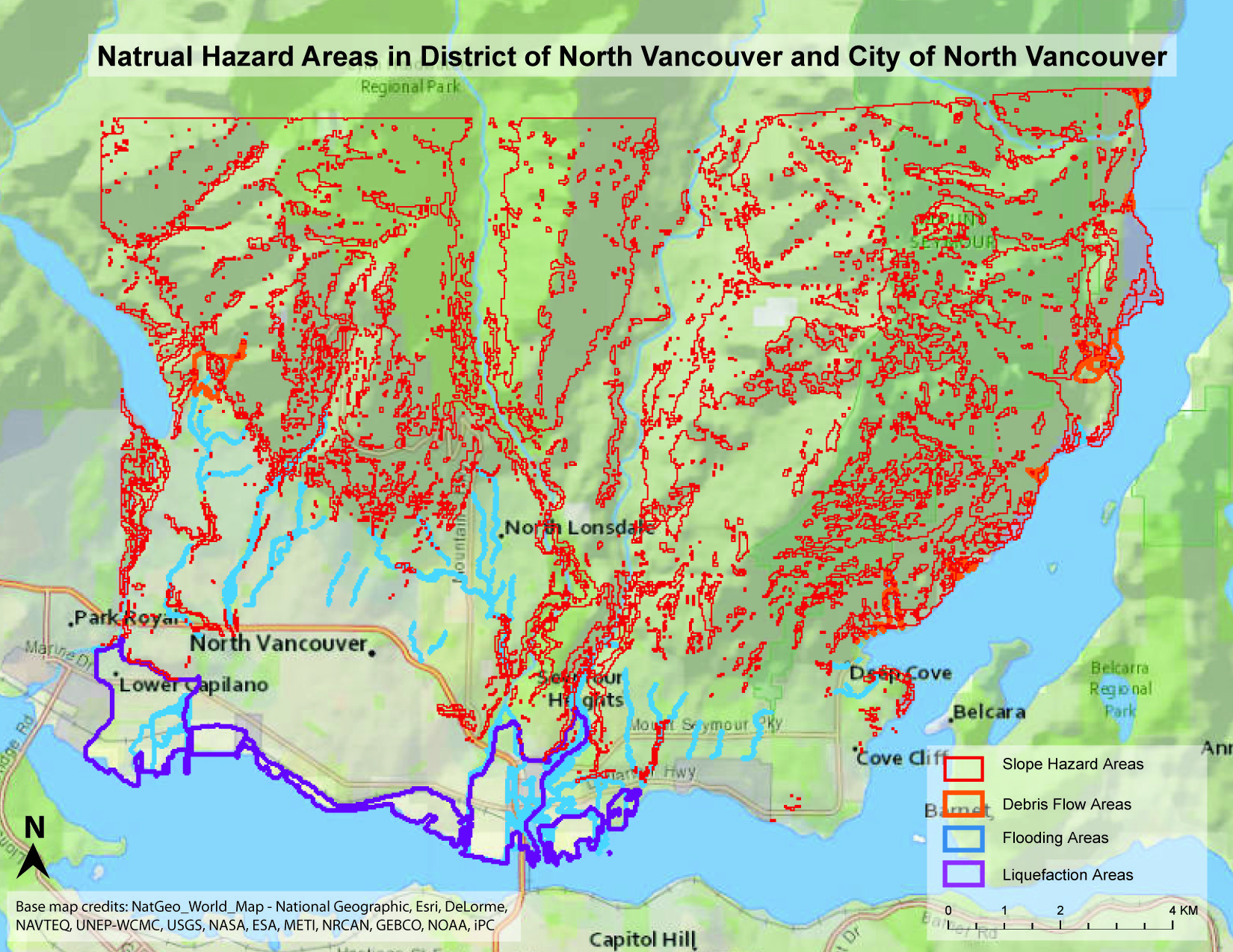 Index map of natural hazad areas in north vancouver click the image for large map in pdf sciox Image collections
