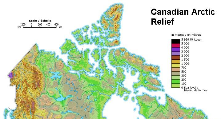 Welcome To Adobe GoLive - Relief map of canada