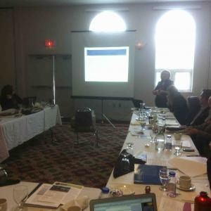 Catherine Bell leads a discussion at an IPinCH-sponsored event in the Yukon, Can