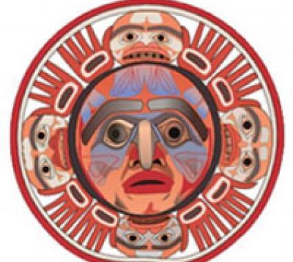 Nuxalk sun mask logo of Nuxalk.Nation.org