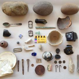 Artefacts used in the Custodians and Curators Workshop to highlight the range of