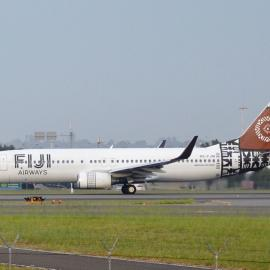 Fiji Airways masi motif and new designs on airplane