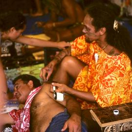 Traditional Samoan tattooing