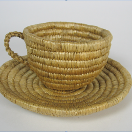 Western Inuit teacup, unknown artist, woven from seagrass. Museum of Vancouver c