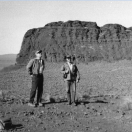 Stern in the field (on the right), ca. 1970s