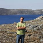 Daniel Gendron near Pingualuk (the crater lake supposed to be the main attractio