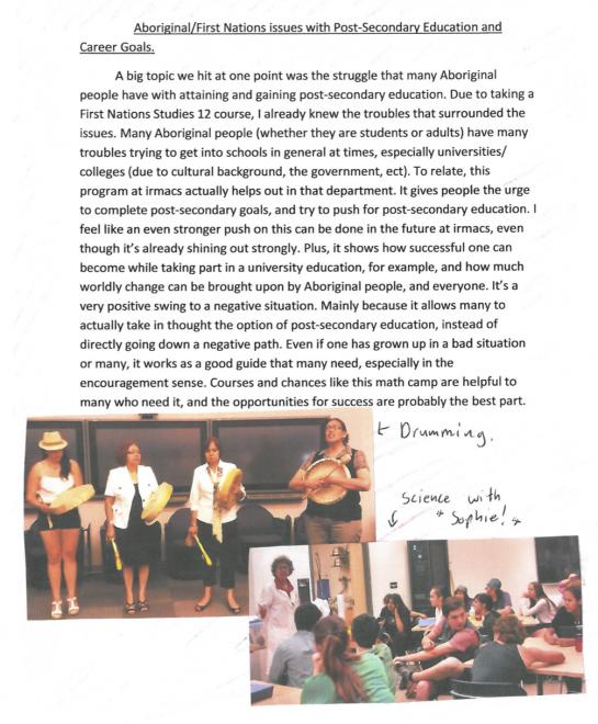 summer math camp story