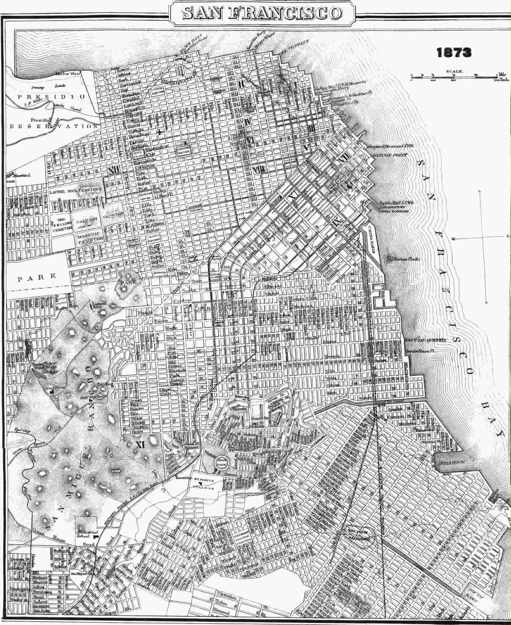 San francisco maps cable sf 1873 cable car map publicscrutiny Image collections