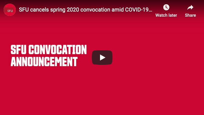 SFU Convocation Announcement