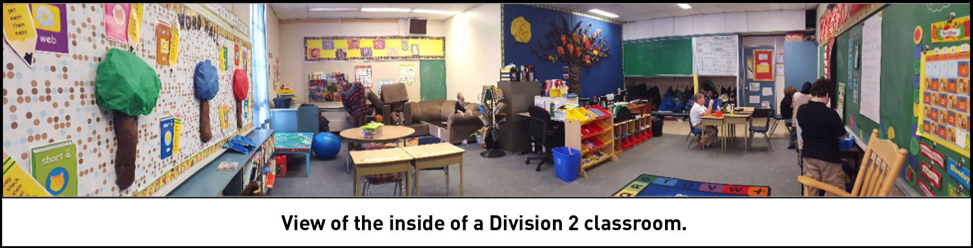 View of the inside of a Division 2 classroom