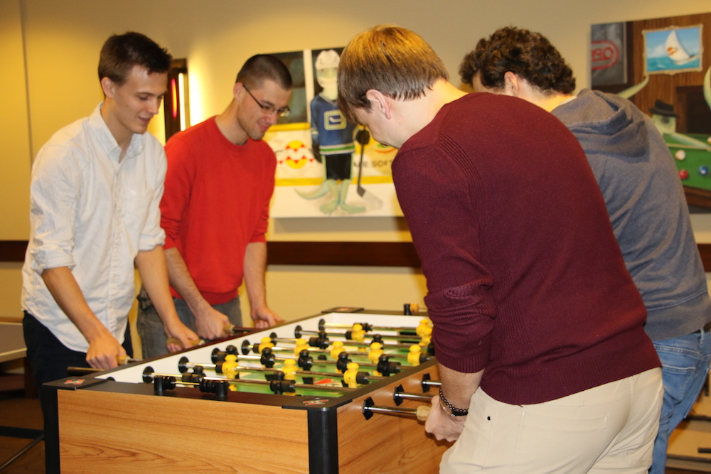 Coffee break foosball at Safe Software
