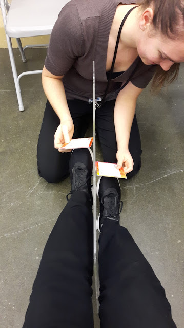 Testing a client's proprioception