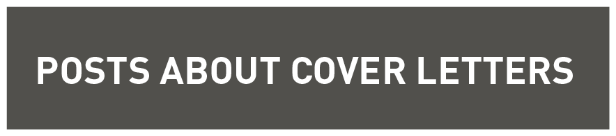 Posts About Cover Letters
