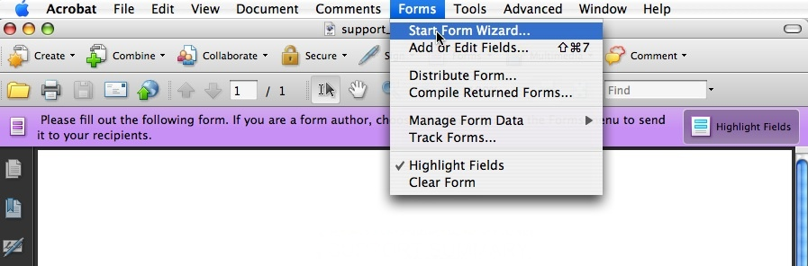 how to delete filled in form adobe reader