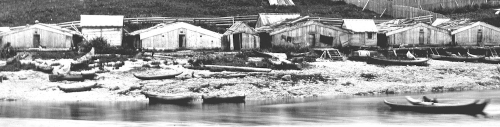 Heiltsuk houses on Campbell Island