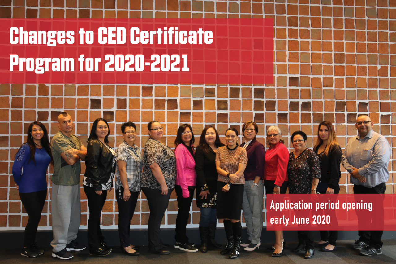 CED Certificate Program: Changes and Applications for Fall 2020