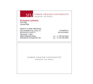 Print merchandise sfu common look and feel simon fraser business cards reheart Image collections