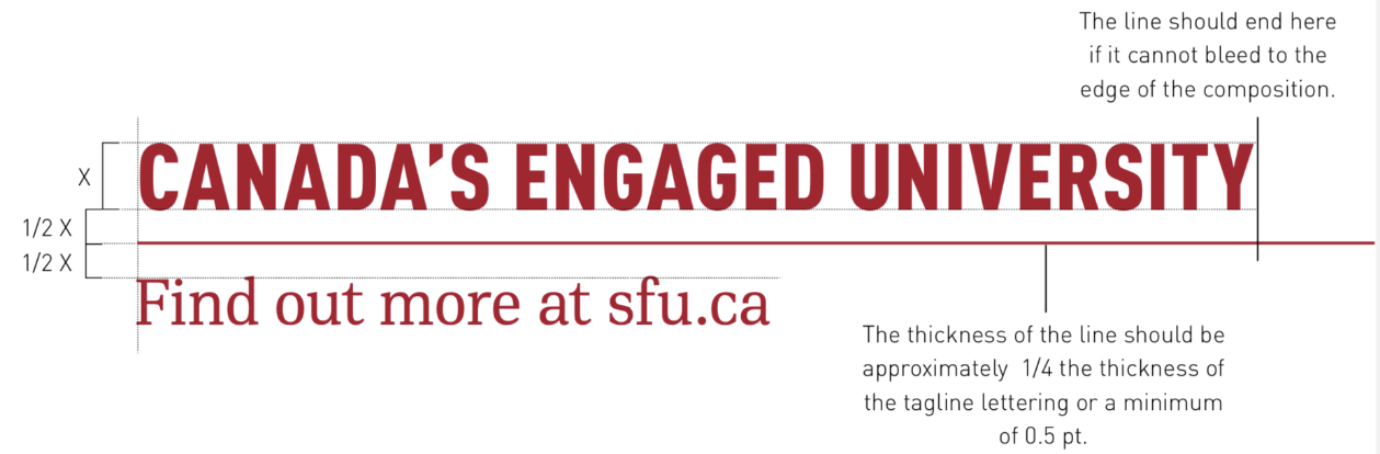 SFU tagline specifications