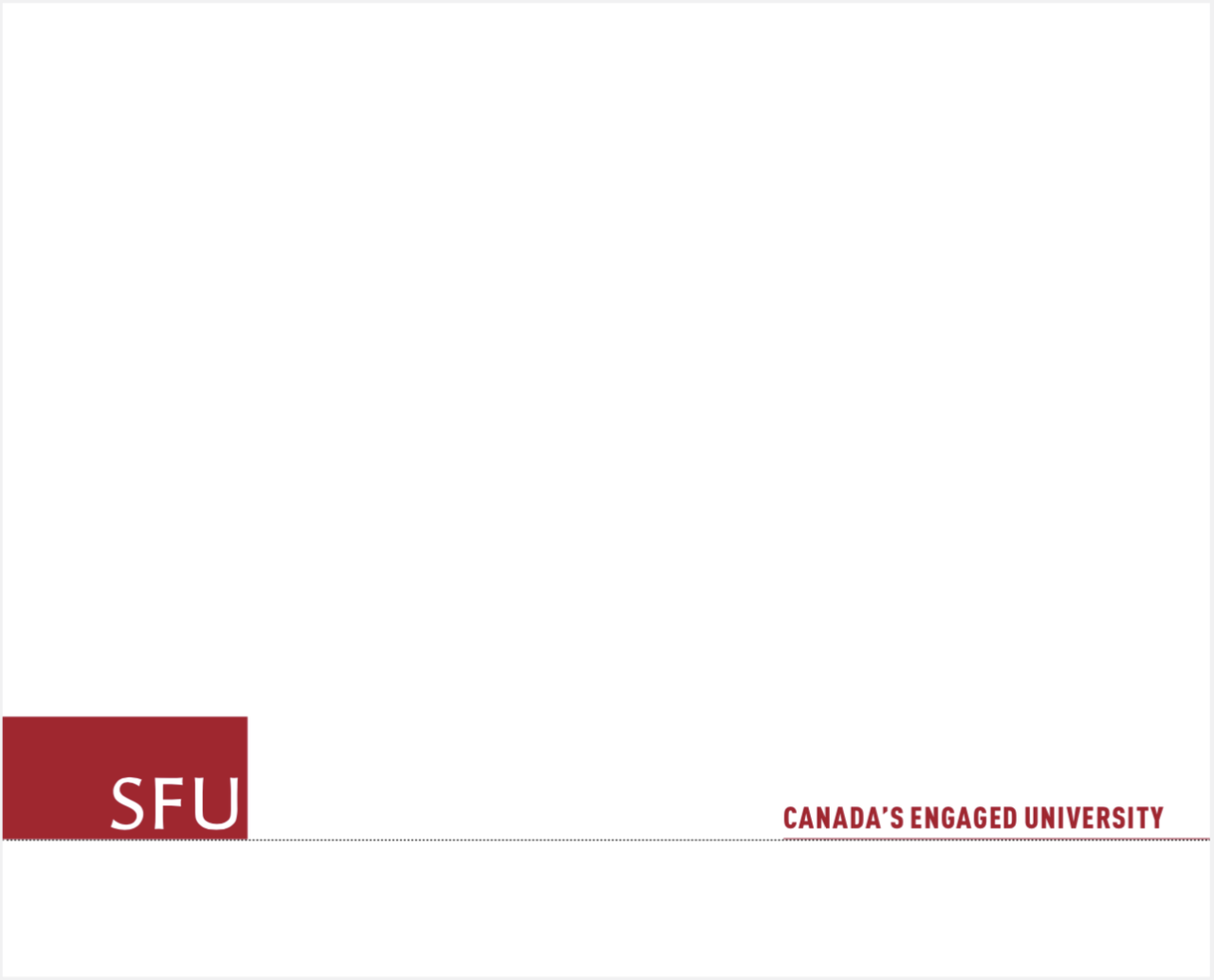 SFU tagline positioned opposit the logo