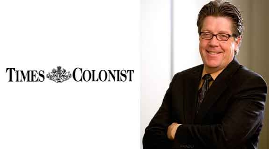 Dean Kris Magnusson talks to the Times Colonist