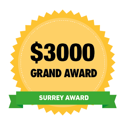 $3000 Surrey Grand Award Winner Badge