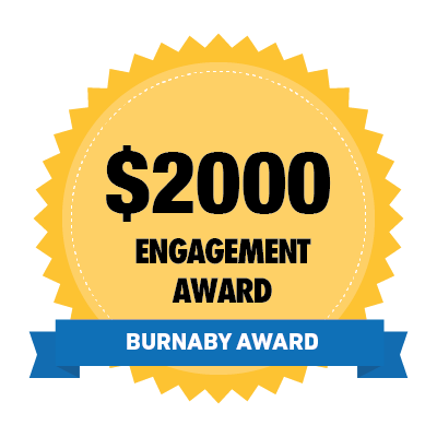 $2000 Burnaby Engagement Award Badge