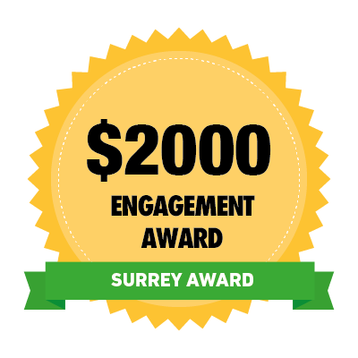 $2000 Surrey Engagement Award Badge