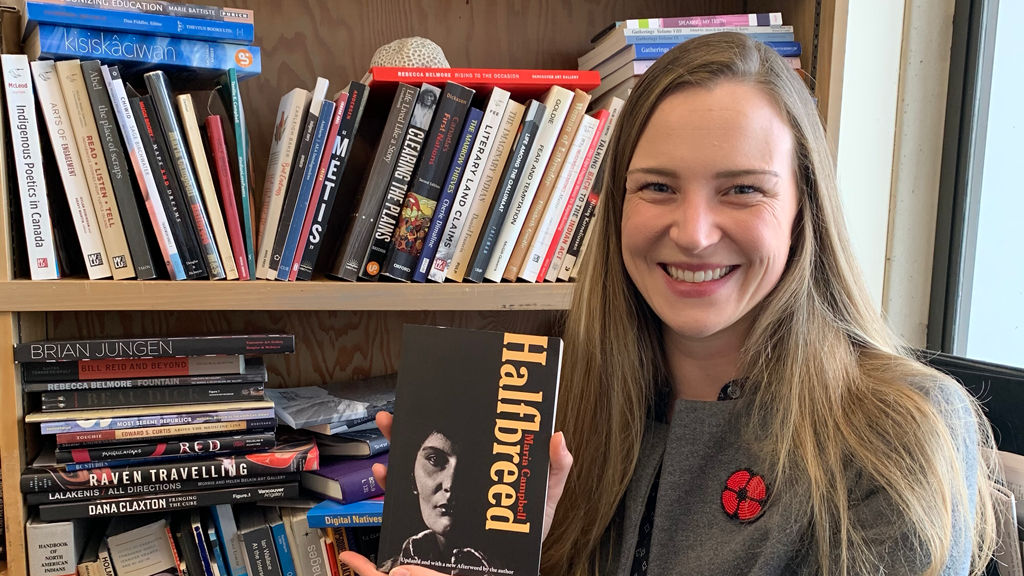 "Working with SFU's First Nations Studies prepared Alix Shield for the work with ""Halfbreed"" by requiring her to integrate Indigenous ethics and protocols into literary studies, something scholars are not often trained to do."
