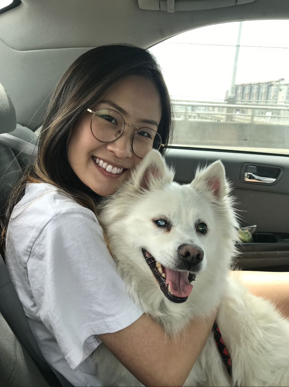 Emily Li and her dog Toby